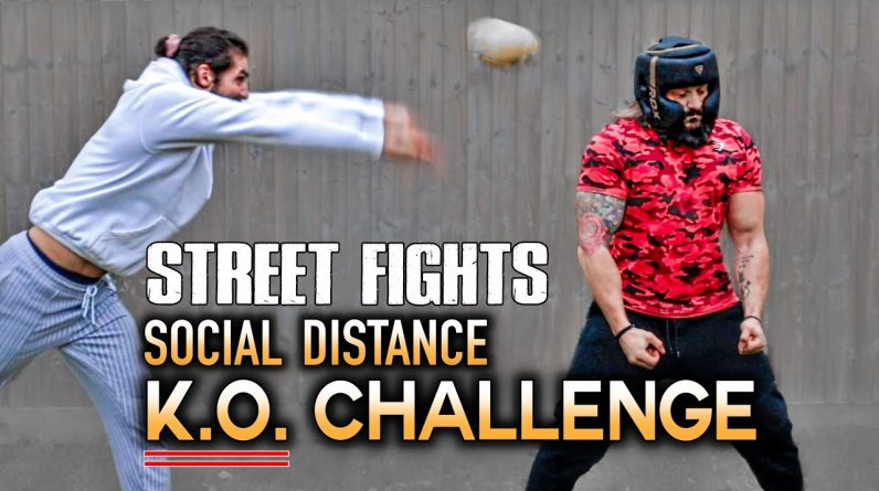 KNOCK OUT CHALLENGE! | Unique Social Distance Fight System | STREET FIGHT SURVIVAL